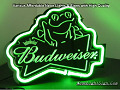 Budweiser Frog 3D Beer Bar Neon Light Sign