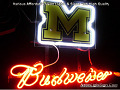 NCAA Michigan Wolverines Budweiser Beer Bar Neon Light Sign