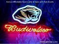 NCAA  Missouri Tigers Budweiser Beer Bar Neon Light Sign