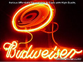NHL Carolina Hurricanes Budweiser Beer Bar Neon Light Sign