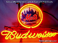 MLB New York Mets Budweiser Beer Bar Neon Light Sign