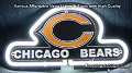 NFL Chicago Bears 3D Neon Sign Beer Bar Light