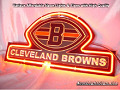 NFL Cleveland Browns 3D Neon Sign Beer Bar Light