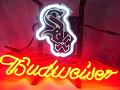 MLB Chicago White Sox Budweiser Beer Bar Neon Light Sign
