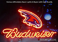 NBA Atlanta Hawks Budweiser Beer Bar Neon Light Sign