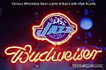 NBA Utah Jazz Budweiser Beer Bar Neon Light Sign
