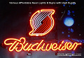 NBA Portland Trailblazers Budweiser Beer Bar Neon Light Sign