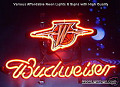 NBA Golden State Warriors Budweiser Beer Bar Neon Light Sign