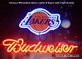 NBA LosAngeles Lakers Budweiser Beer Bar Neon Light Sign