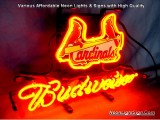 MLB St. Louis Cardinals Budweiser Beer Bar Neon Light Sign
