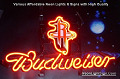 NBA Houston Rockets Budweiser Beer Bar Neon Light Sign