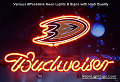 NHL Anaheim Ducks Budweiser Beer Bar Neon Light Sign