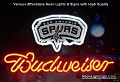 NBA NEW San Antonio Spurs Budweiser Beer Bar Neon Light Sign