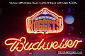 NBA NEW Denver Nuggets Budweiser Beer Bar Neon Light Sign