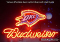 NBA Oklahoma City Thunder Budweiser Beer Bar Neon Light Sign
