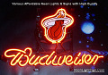 NBA Miami Heat Budweiser Beer Bar Neon Light Sign