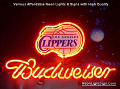 NBA L.A. Los Angeles Clippers Budweiser Beer Bar Neon Light Sign