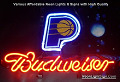 NBA Indiana Pacers Budweiser Beer Bar Neon Light Sign