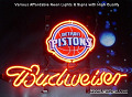 NBA Detroit Pistns Budweiser Beer Bar Neon Light Sign
