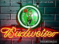 NBA Boston Celtics Budweiser Beer Bar Neon Light Sign