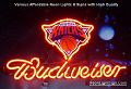NBA New York Knicks Budweiser Beer Bar Neon Light Sign