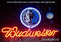 NBA Dallas Mavericks Budweiser Beer Bar Neon Light Sign
