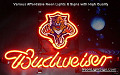 NHL Florida Panthers Budweiser Beer Bar Neon Light Sign