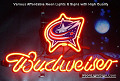 NHL Columbus Blue Jacket Budweiser Beer Bar Neon Light Sign