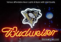 NHL Pittsburgh Penguins Budweiser Beer Bar Neon Light Sign