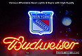 NHL New York Rangers Budweiser Beer Bar Neon Light Sign