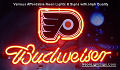 NHL Philadelphia Flyers Hockey Budweiser Beer Bar Neon Light Sign