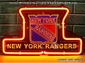 NHL NEW YORK RANGERS Hockey Budweiser Beer Bar Neon Light Sign