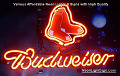 MLB BOSTON RED SOX Budweiser Beer Bar Neon Light Sign