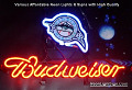 MLB Florida Marlins Budweiser Beer Bar Neon Light Sign