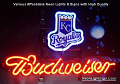 MLB Kansas Royals Budweiser Beer Bar Neon Light Sign