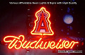 MLB Los Angeles Angels Budweiser Beer Bar Neon Light Sign