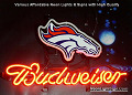 NFL DENVER BRONCOS OFFICIAL Budweiser Beer Bar Neon Light Sign