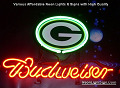 NFL Green Bay Packers Budweiser Beer Bar Neon Light Sign