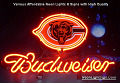 NFL Chicago Bears Budweiser Beer Bar Neon Light Sign