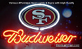 NFL San Francisco Forty-Niners  Budweiser Beer Bar Neon Light Sign