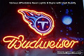 NFL TENNESSEE TITANS  Budweiser Beer Bar Neon Light Sign