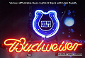 NFL INDIANAPOLIS COLTS  Budweiser Beer Bar Neon Light Sign