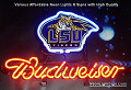 NCAA LSU TIGERS  Budweiser Beer Bar Neon Light Sign