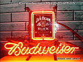 Jim Beam Logo Budweiser Beer Bar Neon Light Sign