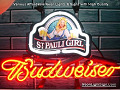 ST.Pauli Girl Logo Budweiser Beer Bar Neon Light Sign