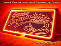 Espresso Cappuccino 3D Beer Bar Neon Light Sign
