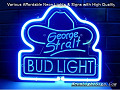 George Straight 3D Beer Bar Neon Light Sign