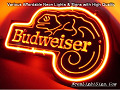 Budweiser Lizard Road 3D Beer Bar Neon Light Sign