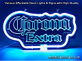 Corona Extra Road 3D Beer Bar Neon Light Sign