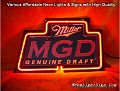 Miller MGD Road 3D Beer Bar Neon Light Sign